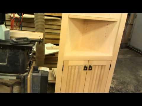 Custom Birch Corner Cabinet