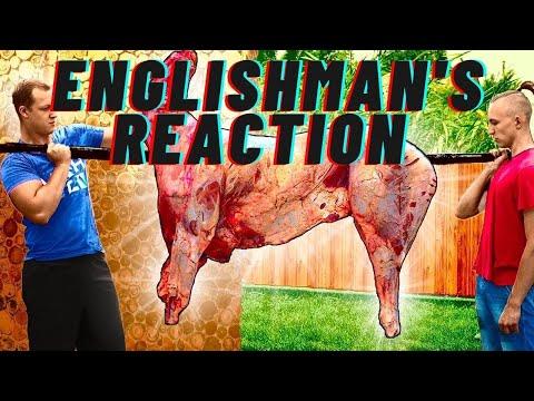 Englishman's Reaction to cooking Deer, Ukrainian - ПРИГОТОВИЛИ ОГРОМНОГО ОЛЕНЯ ВЕСОМ 95 КИЛОГРАММ