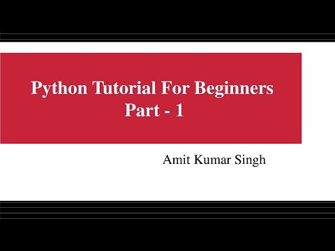 Python Tutorial For Beginners - Part 1 thumbnail