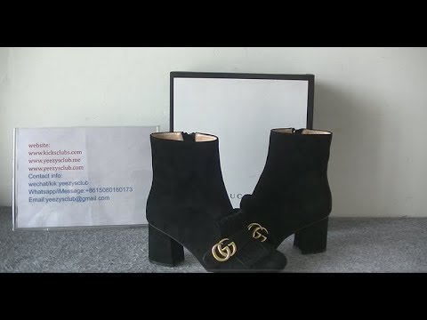abfc45aae3a GG Gucci Marmont 75mm Fringe Ankle Boot - YouTube