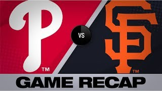 Harper goes yard twice in Phillies' 9-6 win | Phillies-Giants Game Highlights 8/9/19