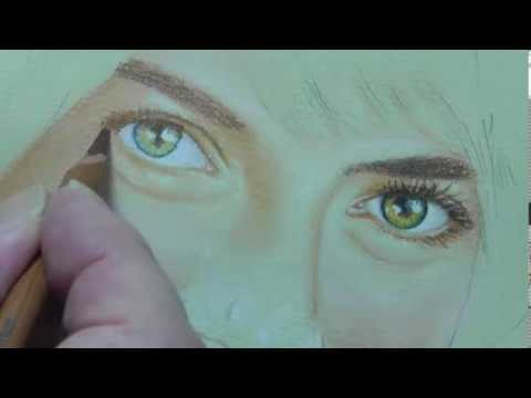 How to Draw Eyes using Pastel Pencils