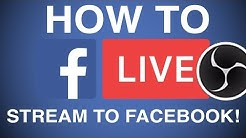 How To Stream Live Video To Facebook Page Using Camera | Go Live On Facebook