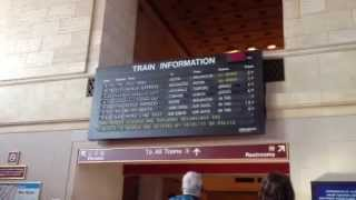 One Of The Few Solari Flip Boards Left - New Haven Connecticut Union Station