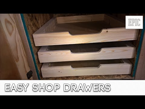 My Next Project: Easy Shop Drawers