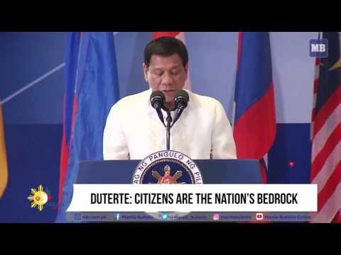 Duterte: Citizens are the nation's bedrock