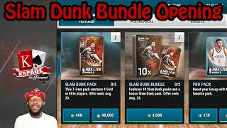 NBA Live Mobile Face Cam | Slam Pack Bundle Opening | Am I Outta Pack Luck