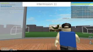Roblox playing Kick off, The Mor Shot Distance:?!