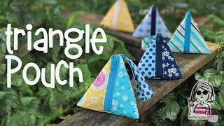 Triangle Pouch - (with no exposed seams)