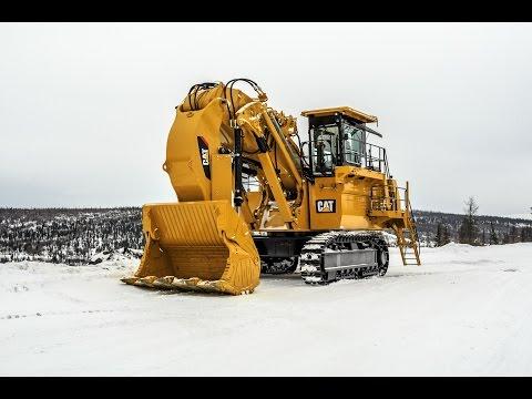 Сборка карьерного экскаватора Cat 6018FS на месторождении Угахан