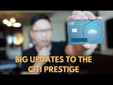 Citi Prestige (Major Update): 5X Dining & Airfare + Capped 4th Night