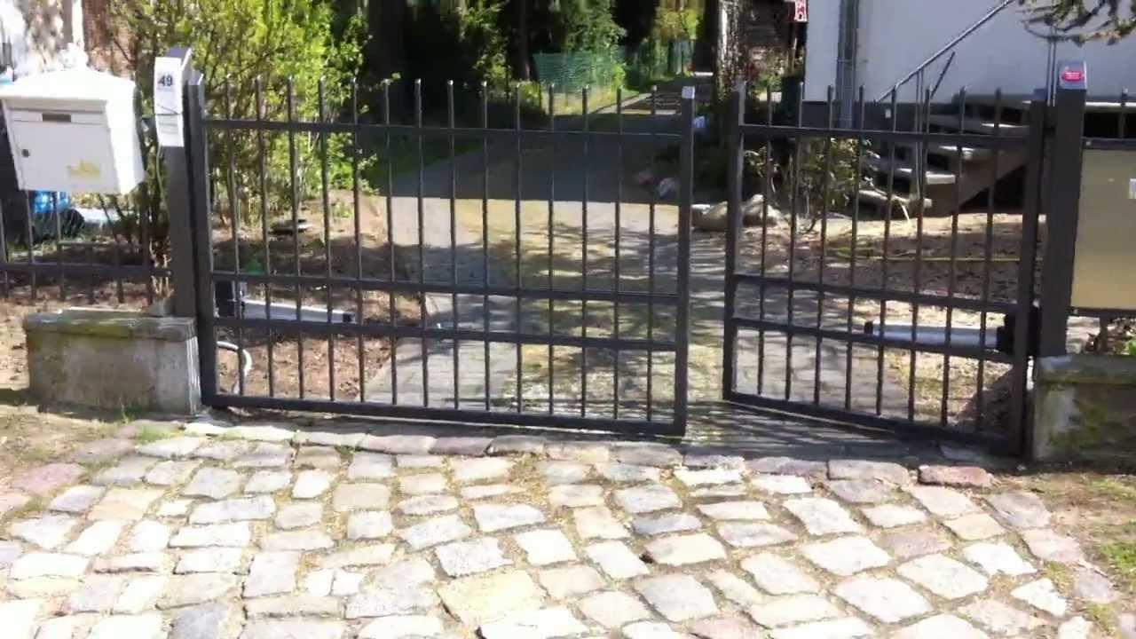 Zaun, E- Antrieb, Einfahrt - YouTube