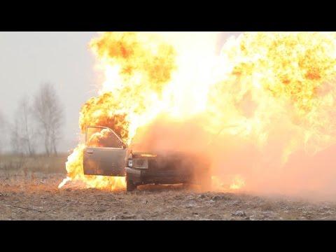 100kg propane gas car explosion Live stream