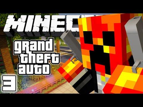 EPIC CAR CHASE! - Grand Theft Auto V - #3 (Minecraft GTA Server)