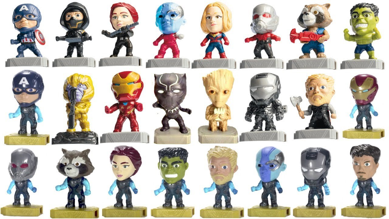 2019 Avengers Endgame Mcdonalds Happy Meal Toys Full Movie