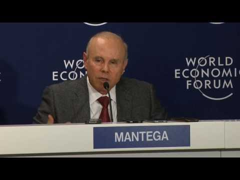 Davos 2014 - Press conference - Brazil´s Minister of Finance