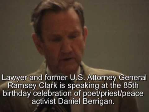 Ramsey Clark Honors Daniel Berrigan