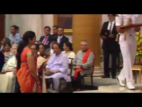 Ustad Sayeed Sabri getting Sangeet Natak Akademi Award by President of India.