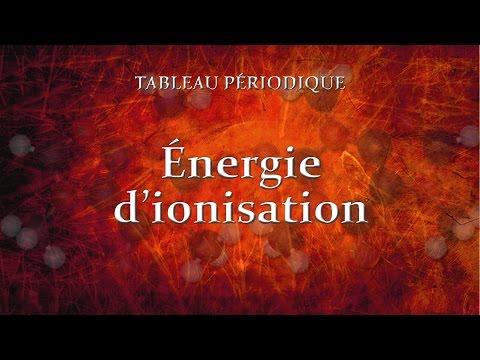 4.6 Énergie d'ionisation