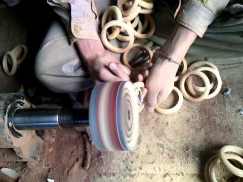 Wooden curtain ring making Part4