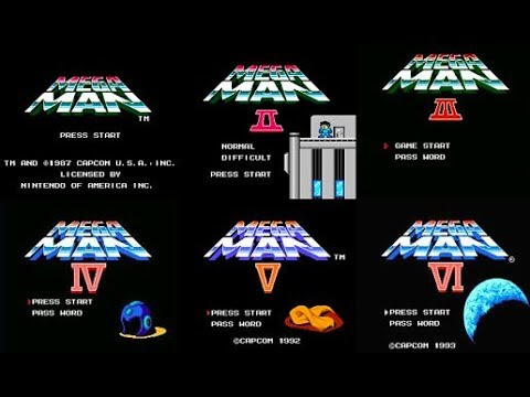 MEGAMAN 1 TO 6 - ALL OPENINGS, ENDINGS & CREDITS - FULL MOVIE