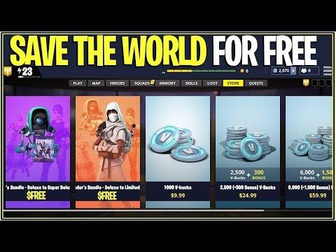 *NEW* Fortnite: SAVE THE WORLD FOR FREE GLITCH! | (Working Season 4 New Method)