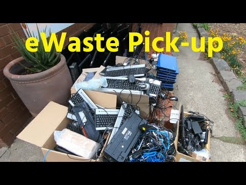 E-Waste Recycling Pick Up and Rant