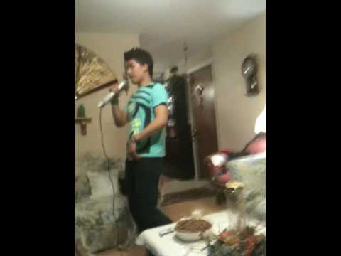 lorenz tearing up the karaoke night..