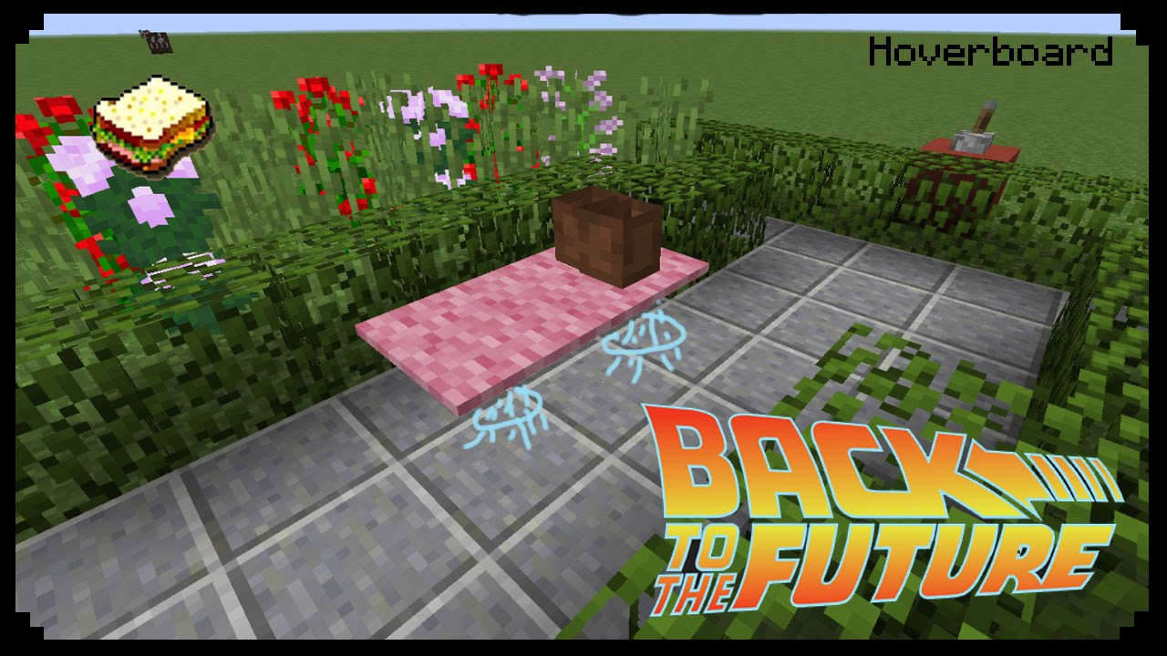 minecraft how to make a hoverboard back to the future youtube. Black Bedroom Furniture Sets. Home Design Ideas