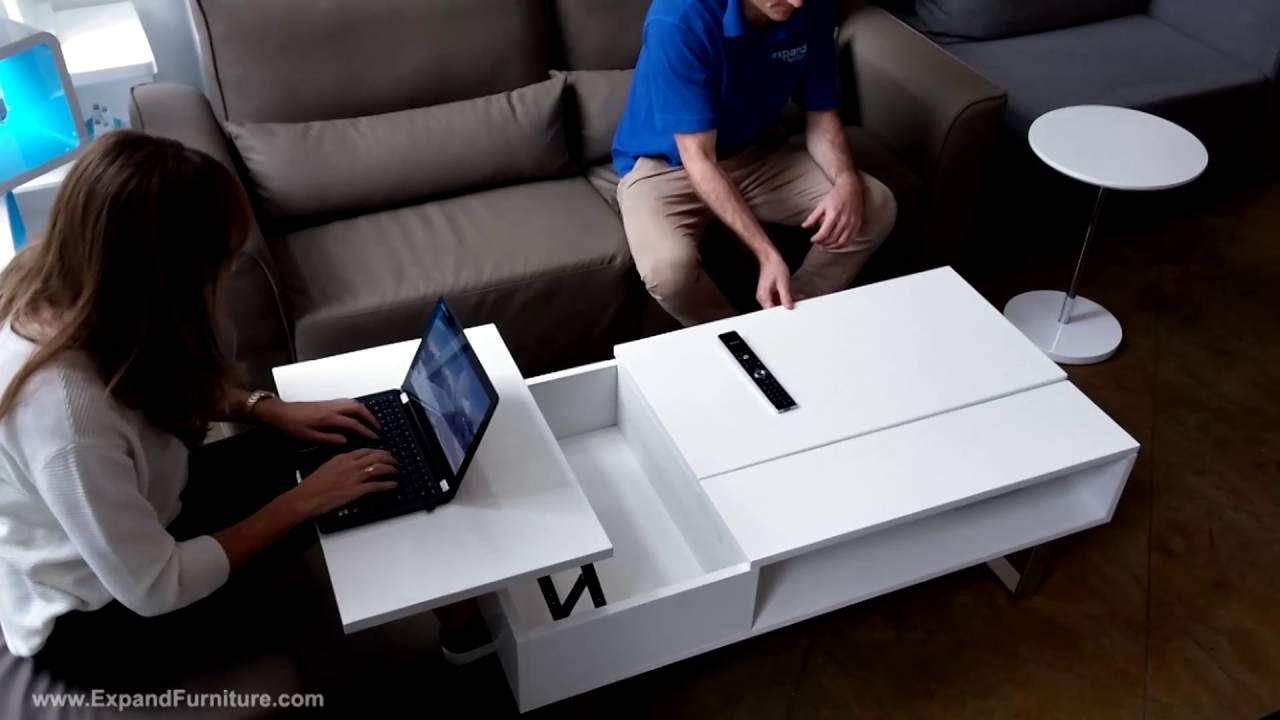 occam lifting coffee table with 2 lift tops - youtube