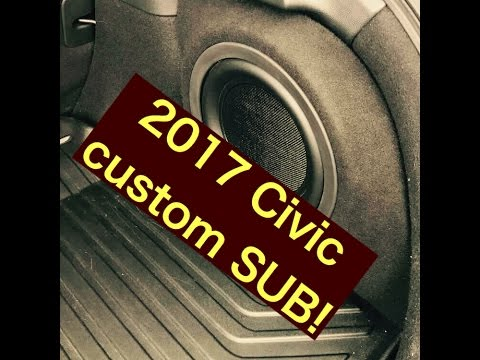 2017 Honda Civic hatch SUB installation! - YouTube