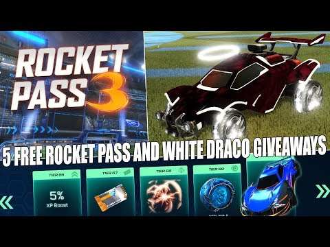LIVE/NEW ROCKET PASS 3 -OPENING TIERS /GIVING AWAY 5 FREE PASSES AND WHITE DRACO'S AND BLACK MARKETS thumbnail