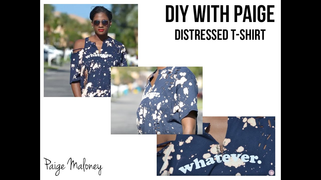 Distressed t shirt diy youtube for How to make a distressed shirt