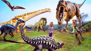 Jurassic Park T-Rex & GIANT LIFE SIZE DINOSAUR Jurassic World Мир юрского периода ЖИВЫЕ Динозавры