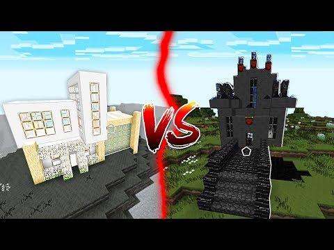 BLACK HOUSE VS WHITE HOUSE IN MINECRAFT!