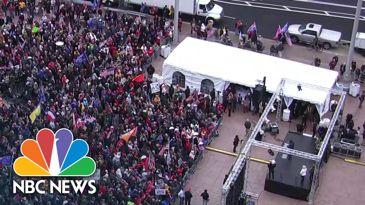 Pro-Trump Supporters Rally Near White House Ahead Of Electoral College Vote | NBC News NOW