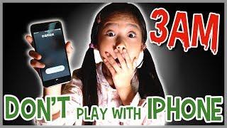DO NOT PLAY WITH iPhone AT 3AM!! 【深夜にスマホで遊んじゃダメ!】なりきり夏のホラー ゴースト 寸劇 かのん&りんたん ♥ -Bonitos TV- ♥
