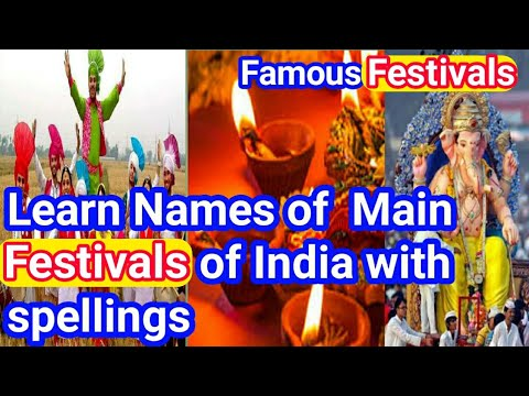 Most famous festivals name of India - learn festivals Name in India - Festivals of india