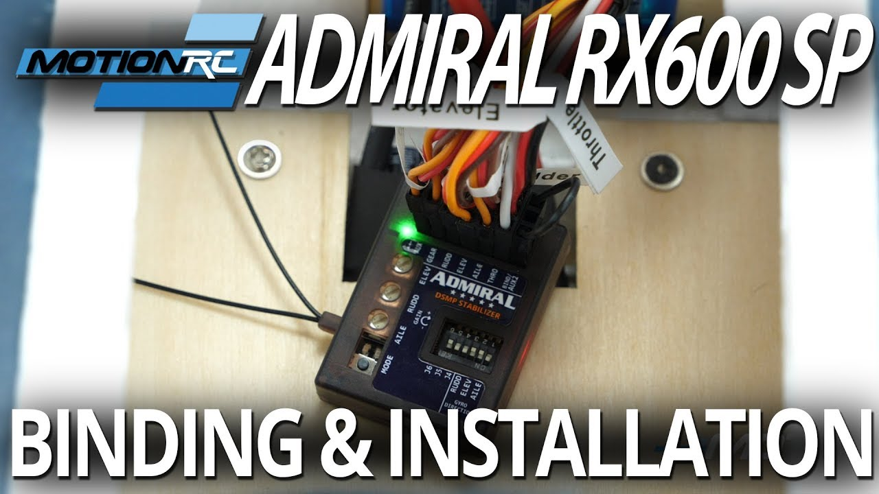 Admiral RX600SP 6-Channel DSMX Compatible Receiver with Stability Plus Gyro