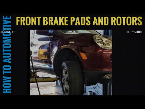 How to Replace Front Brake Pad Rotors and Sensors on a Porsche Cayenne S