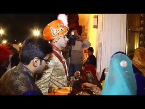 Raj Chauhan weds Jiya Nathawat 17th feb 2014 at Rambagh Place, Jaipur