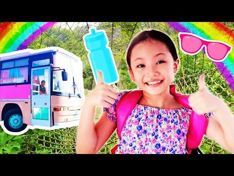 Bug's funny camping trip in a barbie van