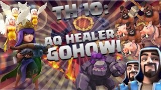 """Clash of Clans Wars Strategy - The Queen Healer is BACK!? """"LAVALOON"""" Clan wars"""