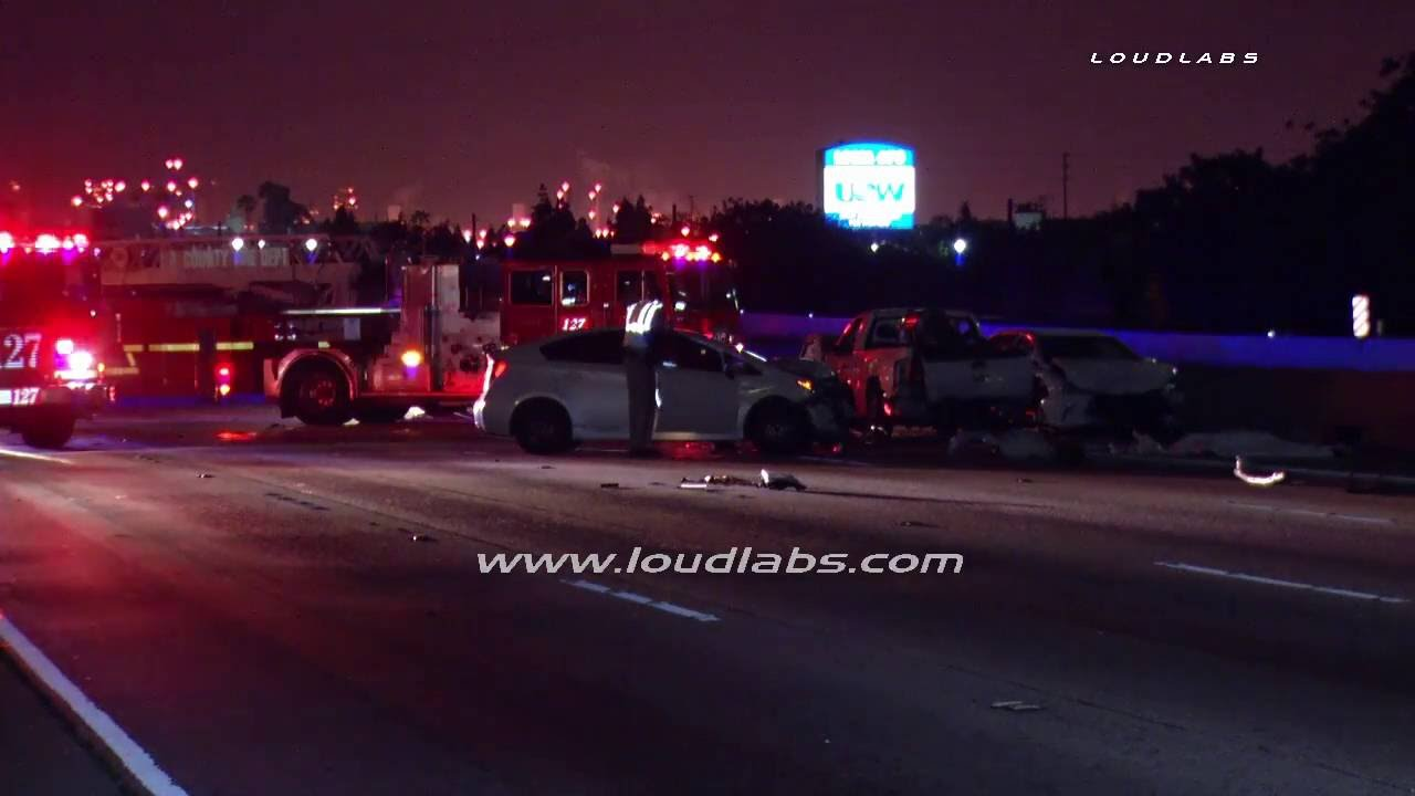 Triple Fatal 405 Accident / Carson RAW FOOTAGE
