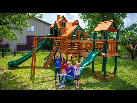HUGE Kinder Playtime Magical Playhouse for Kids Gorilla Empire Extreme Swing Set Kid Friendly Fun