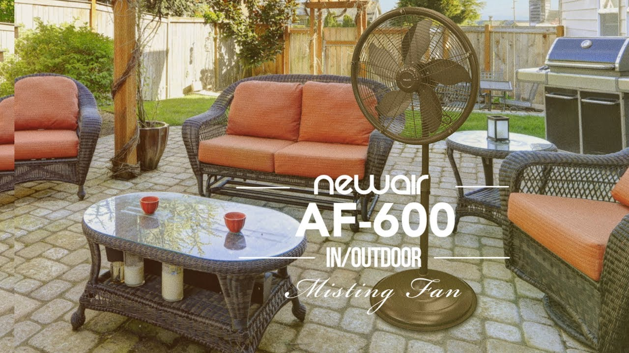 introducing the af600 misting fan newair - Outdoor Misting Fan
