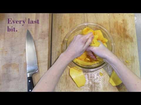 Mango Sorbet By Www.KelleyCooksALot.com With KitchenAid Ice Cream Maker