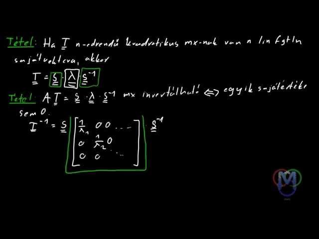 Lineáris leképezés mátrixa sajátvektorainak bázisában