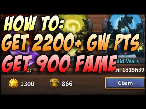 Castle Clash: How To Easily Get ~900 Fame In Guild Wars!