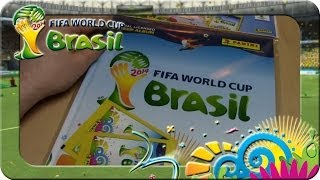 Panini Fifa World Cup Brasil 2014 STARTER PACK Unboxing (Hard Cover Album)